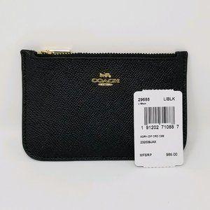 Coach Zip Card Case (black)